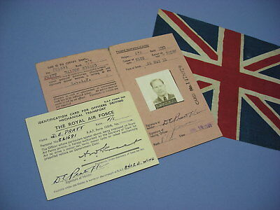 WWII 1945 RCAF 8402 Luftwaffe Disarmament Wing ID CARD to Flight Lieutenant !