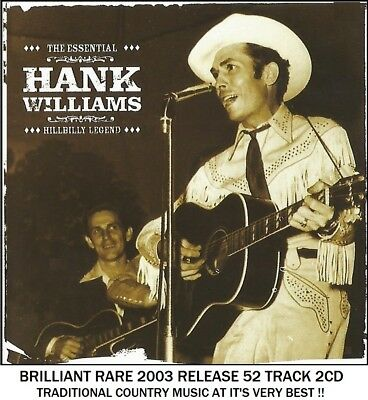 Hank Williams - Very Best Greatest Hits Collection - RARE 2003 Country Music 2CD