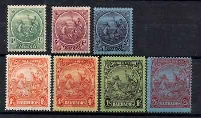 Stamps Barbados selection 1921-35 definitives mint hinged and mint light hinged