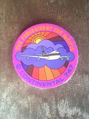 RARE 1969 Peter Max Continental Airlines 747 Coasters NIP Deadstock