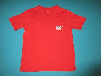 VINEYARD VINES Boys Red Short Sleeve Shirt Red White Blue Whale Size 5