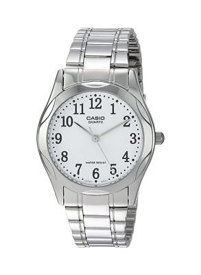 Casio MTP1275D-7B Mens Stainless Steel Analog Dress Watch White Dial