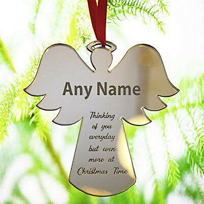 Angel Christmas Tree Bauble Personalised Memorial Gift Xmas Ornament Decoration