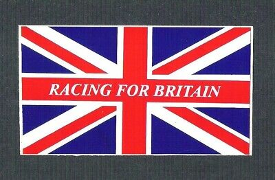 Vintage Sticker - Racing For Britain, Gold Leaf Team Lotus, F1 World Champions