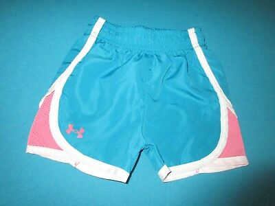 UNDER ARMOUR Girls Teal Pink Shorts Size 12 Months 12M