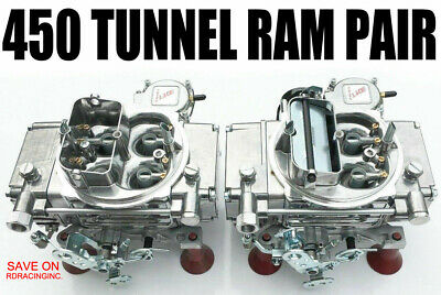 SLAYER SERIES CARBURETOR 450 CFM VS GAS TUNNEL RAM PAIR Front & Rear Carburetors