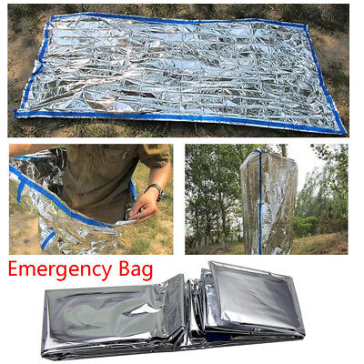 Outdoor Emergency Blanket Warm Sleeping Bag Survival Shelters Camping 84''x36''