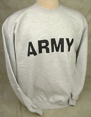 d4b6e08780e Genuine Us Army Issue Sweatshirt Pt Physical Training Crew Neck Usa Made