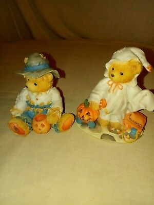 Cherished Teddies Figures - Set of 2 - Gary and Stacie - Fall - Halloween