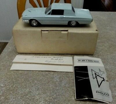 VINTAGE 1966 FORD THUNDERBIRD PHILCO RADIO DEALERS GIVE AWAY w ORG BOX & PAPER