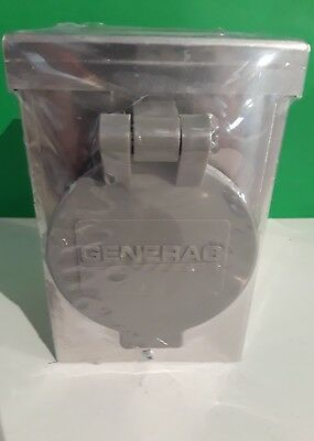 GENERAC 6346 30-AMP 125/250V Aluminum Power Inlet Box W