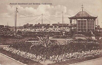 Early Postcard Redoubt Bandstand and Gardens. Eastbourne.