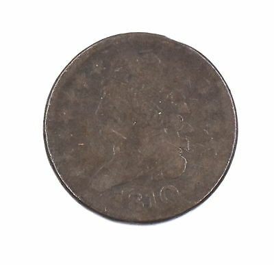 1810 Classic Coronet Liberty Head Half Cent Piece Us Collectible Copper Coin - G