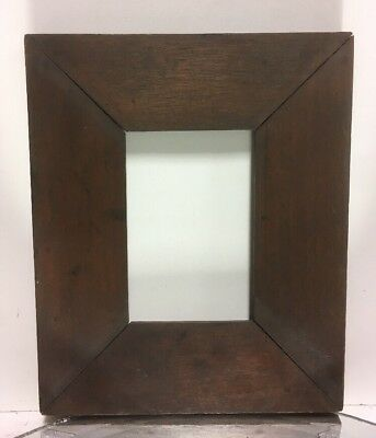 """Antique Arts and Crafts Wood Picture Frame Fits 3"""" x 4 1/2"""" LG Biscuit Joints #2"""