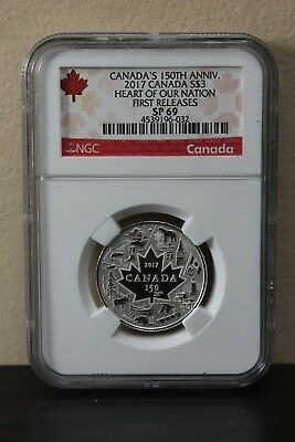 2017 Canada Heart of Our Nation First Releases Canada's 150th Anniv S$3 NGC SP69