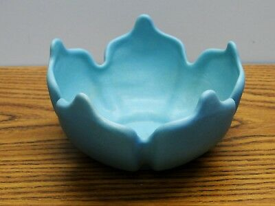 Van Briggle Art Pottery Water Lily Planter/Bowl Turquoise Blue