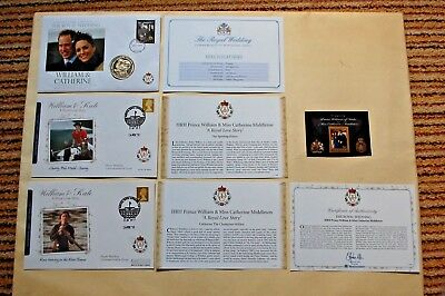 William & Kate Royal Wedding Coin Covers & Miniature sheet £2 coin FDC 2011