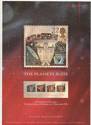 1990 Post Office A4 Poster Grille Card - Astronomy