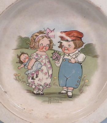 Buffalo Pottery Child's Dish Dolly Dingle Campbell Kids Doll Vintage Bowl #2