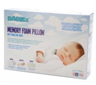 BNIB BABY MEMORY FOAM PILLOW COT NURSERY BEDDING Newborn Gift