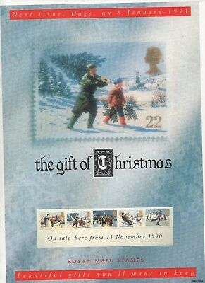 1990 Post Office A4 Poster Grille Card - Christmas