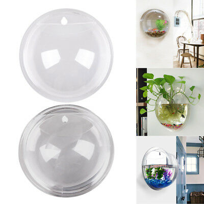 New Wall Mounted Plant Fish Tank Bowl Bubble Aquarium Hanging Terrarium Decor