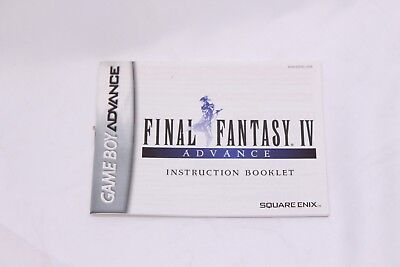 Nintendo Gameboy Advance GBA - Final Fantasy IV  - Instruction Manual Only
