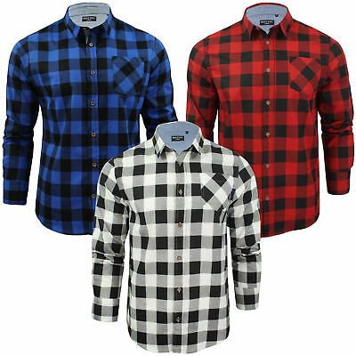 Kids Boys Girls Check Shirt Flannel Brushed Cotton Western Casual Brave Soul