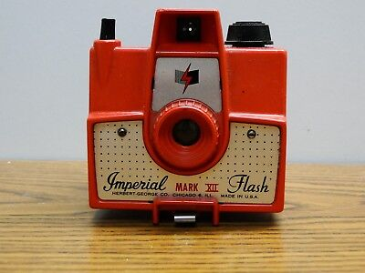 Imperial Mark XII Flash Camera Coral Red Color