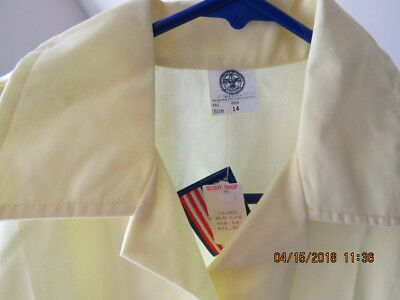 Official BSA Boy Scout Den Mother Neck 14 Blouse Uniform Long Sleeve Shirt