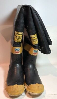 Vintage Ranger Rubber Co Firemaster Steel Midsole Insulated Boots USA