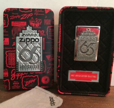 ZIPPO 65th anniversary collectible 1997 LImited Edition.  BOXED SET .NEW in Tin
