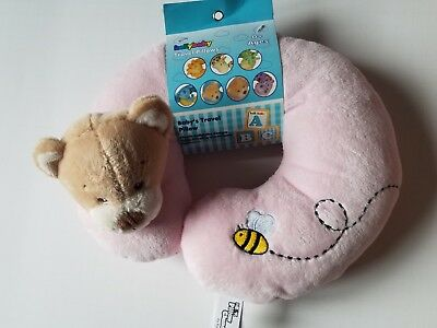 Infant Girls Kelly Baby Brand Tan & Pink Bear Travel Neck Pillow bumble bee