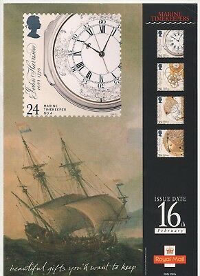 1993 Post Office A4 Poster Grille Card - Marine Timekeepers