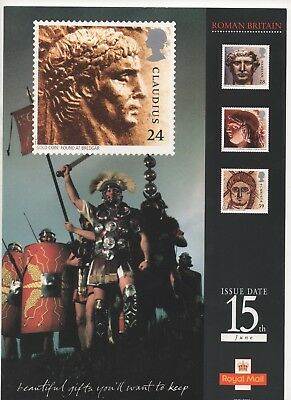 1993 Post Office A4 Poster Grille Card - Roman Britain