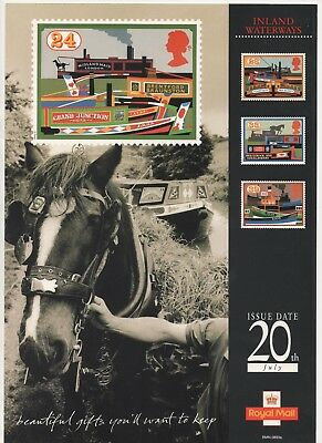 1993 Post Office A4 Poster Grille Card - Inland Waterways