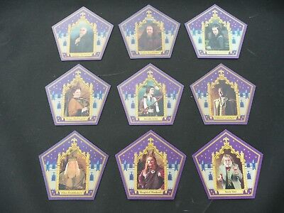 Harry Potter Chocolate Frog Wizard Cards - Full 9 Card Set