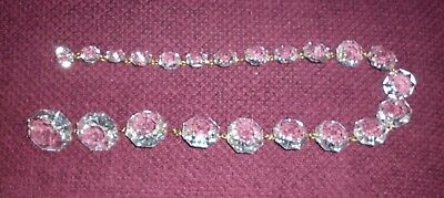 Long Strand Vintage Graduated Chandelier Crystals