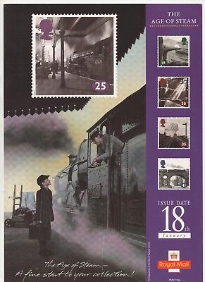 1994 Post Office A4 Poster Grille Card - The Age of Steam