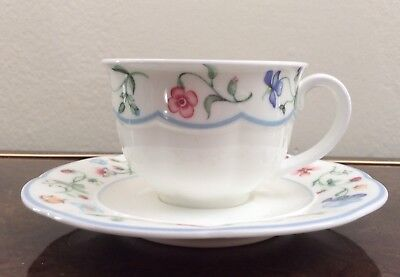 Villeroy & Boch China Mariposa Mettlach Breakfast Cups And Saucers 12 Available