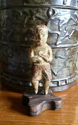 Tiny 18th century Carved Wood Santos Figure