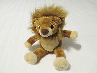 "HTF 7"" Bestever Brown Lion Plush Stuffed Baby Toy EUC"