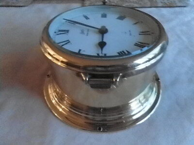 Classic, Brass Ship's Clock With Ships Bell Chimes Quartz, Working