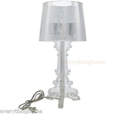 Clear Acrylic Table Lamp French Baroque Old World Style Petit Modern