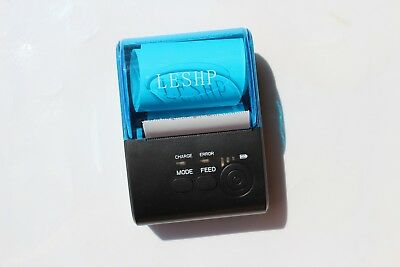 Blue and Black Mobile Printer