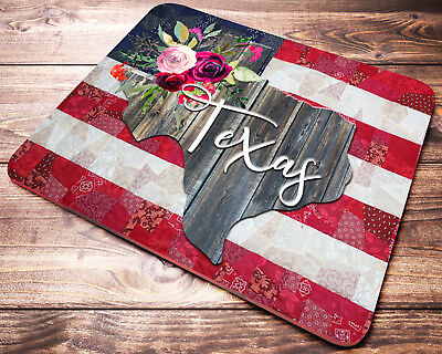 Texas State American Flag Mouse Pad Office Desk Accessories Decor Texas Gift