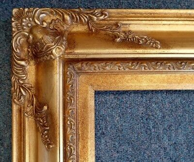 Picture Frame 8x10 Vintage Chic Antique Style Baroque Gold Ornate w GLASS 700G