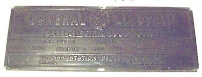 Ge General Electric Diesel-Electric Loco Builder Plate C/n 42701 C30-7 Up #2461