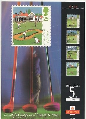 1994 Post Office A4 Poster Grille Card - Golf