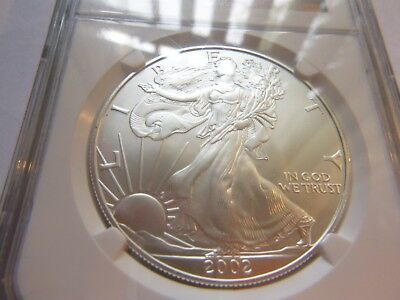 2002 Silver American Eagle - NGC MS69 - Cert # 207367-071   BROWN LABEL